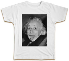 Albert Einstein Tongue Out T-Shirt - Cool Funny Gift Top Physicist Top Present