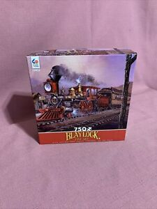 BLAYLOCK FINE ART by Ted Blaylock - Ceaco 750 piece TRAIN puzzle Complete. 5