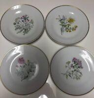 LOT 4 Salad/Bread Plates Floral RICHARD GINORI, ITALY, FINEST CHINA SINCE 1735