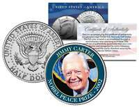 JIMMY CARTER * 2002 NOBEL PEACE PRIZE * Colorized JFK Half Dollar U.S. Coin