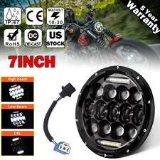 "7"" Inch 75W  LED Motorcycle Motorbike Headlight Lamp For Harley Davidson Touring"