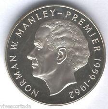 Jamaïque 5 Dollar 1972 argent Norman W Manley @@ EXCELLENT @@