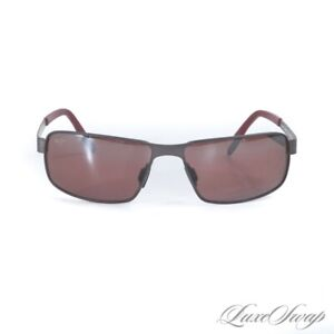 LNIB Maui Jim Made in Italy Castaway MJ187-02C Gunmetal Berry Lens Sunglasses NR