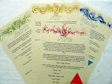4 élément de page correspondance Set A4 parchemin Wicca Pagan livre des ombres Bos