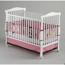 Little Bedding by Nojo Baby Girl Raspberry Jungle 4-Pc Pink Secure Me Bumper