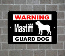 Mastiff warning GUARD DOG breed metal aluminum sign