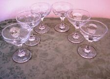 * 6 LIBBEY CHIVALRY CHAMPAGNE GLASS (24 AVAIL)TALL SHERBET TEXTURED STEM WARE