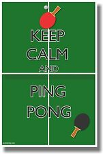 Keep Calm and Ping Pong - NEW Classroom Motivational Poster