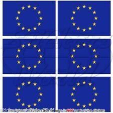 """BANDIERA DELL'UNIONE EUROPEA EUROPA 40mm (1.6"""") Mobile Cellulare Mini Adesivi-Decalcomanie x6"""