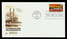 FIRST DAY COVER #3092 Riverboats Sylvan Dell 32c ARTCRAFT U/A FDC 1996