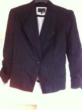 Next Linen Jacket Size 12 Black Lined