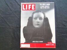 1955 JANUARY 10 LIFE MAGAZINE - GRETA GARBO - L 937