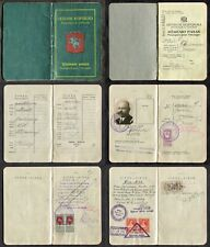 p283 - LITHUANIA Passport 1920s LATVIA GRIVA Municipal REVENUE Stamps. Fiscal