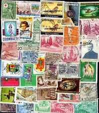 Colombie - Colombia 500 timbres différents oblitérés