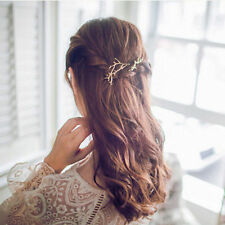 2pcs Branch Leaves Hairpin Bobby Pin Hair Clip Accessories gold boho wedding