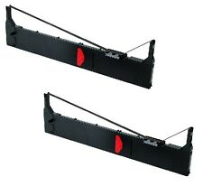 2x Farbband für Epson LQ 2070 2170  Nylon 13mm schwarz Ribbon