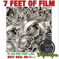 Hydrographic Film Skulls See No Hear No Do No Evil 7 X 20 Hydro Dip Dipping