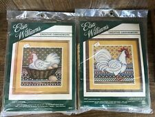 Elsa Williams Creative Canvaswork Chickens Set Of 2 Tapestry Kits