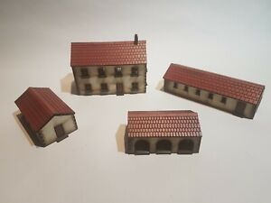 15mm WW2 4 Farm Buildings MDF Painted Terrain Suitable for Flames of War