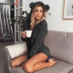 Sexy Ladies Hoodie Lady's Jumpsuit Solid New Fashion Long Sleeve Autumn BT