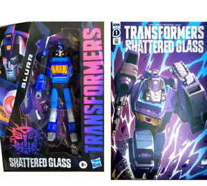 2021 Transformers Generations Shattered Glass Blurr & IDW Exclusive Comic New
