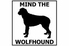 Mind the Irish Wolfhound - Gate/Door Ceramic Tile Sign