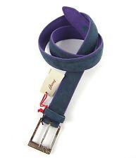New BRIONI Handmade Blue Genuine Calf Leather Belt 36 38 40 / 90 NWT $595