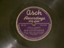 "JAMES P JOHNSON 4 O'Clock Groove / Hesitation Blues Pops Foster Asch 12"" 78 rpm"