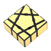 3D Irregular Gold Ghost Magic Cube Speed Cube Twist Puzzle Brain Teaser