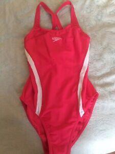 Speedo Pink Swimming Costume Size 36