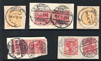 Germany early postmark selection on piece