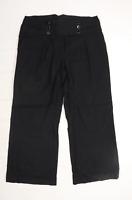 Womens Dorothy Perkins Black Linen Trousers Size 18/L30
