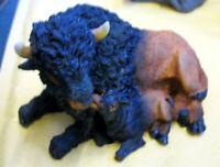 SET á 2 Stück Bison Büffel Dekofiguren  Figuren Buffalo Polyresin
