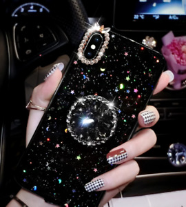 Bling Sparkling Star/Moon Case For iPhone X/xs,XR,XSMAX,11,11 PRO,C/W RING HLDR