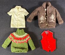 Vintage Ken Barbie Doll Sweaters Shirt Vest Clothes Outfits Mattel 1960's