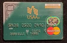 USAA Check and Cash MasterCard credit card exp 2002♡free ship♡cc1193♡rare♡