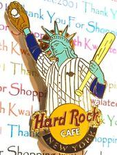Hard Rock Cafe New York Pin Freiheitsstatue Baseball 2004 Hrc Neu#
