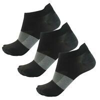 Asics Lyte 3 Pack Mens Running Fitness Training Ankle Sock Black - UK 11-13