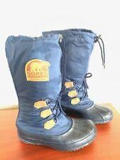 Sorel Snowlion Kaufman Womens Sz 8 US Tall Insulated Navy Blue Winter Snow Boots