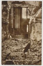 France postcard - The Great War. Rheims Cathedral. Interior Masonry shattered