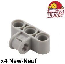 Lego technic - 4x pin axle connector perpendicular triple gris/lb gray 63869 NEW