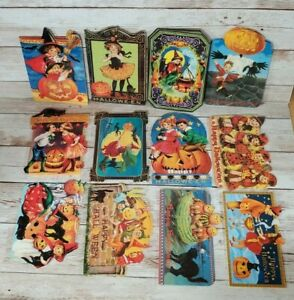 Punch Studio Vintage Halloween Cards Box Set Of 24 & Envelopes - OPEN BOX