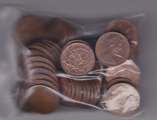 collection of 10 TEN - 2 Two Cent Australian copper Coins Frilled Neck Lizard