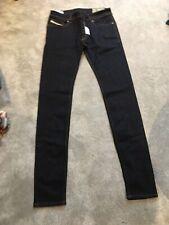 BNWT Diesel Troxer Ladies Slim-Skinny Jeans Size 30W 34L Dark Blue