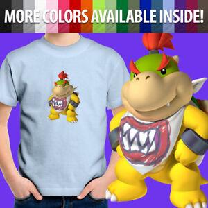 Unisex Kids Tee Youth T-Shirt Gift Printed Mario Bros Bowser Jr. Koopa Villain