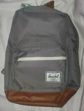 Herschel Supply Co. Pop Quiz Grey Tan Synthetic Leather Backpack