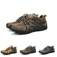 Men's Breathable Climbing Lace Up Casual Outdoor Hiking Sneakers Non-Slip Shoes