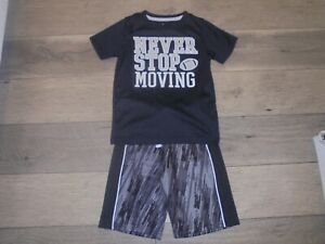 Carter's Actiblack & gray Never Stop Moving athletic activewear short set boys 5