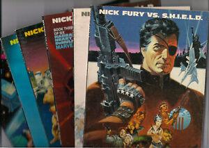 MARVEL'S NICK FURY VS. S.H.I.E.L.D. • Books #s 1-6 • Prestige format TPs