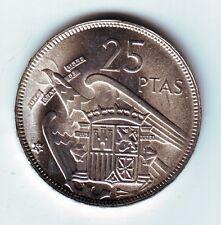 ESPAÑA: 25 Pesetas FRANCO 1957 estrella 66 acuñada en el año 1966  S/C